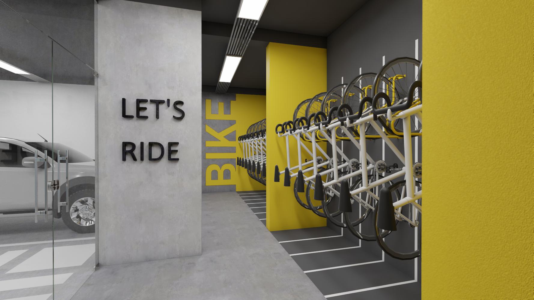 arquitetura de bicicletário em studio