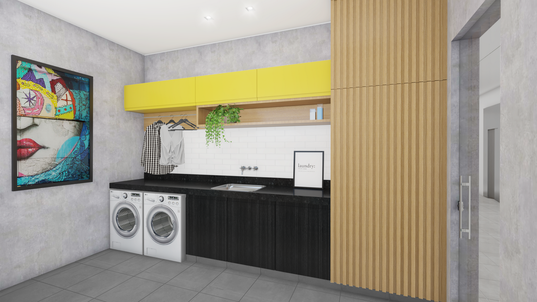 arquitetura para lavanderia
